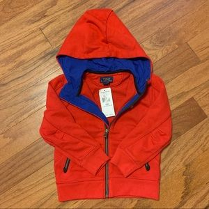 NWT Polo Size 3T Red Partial-zip Pullover